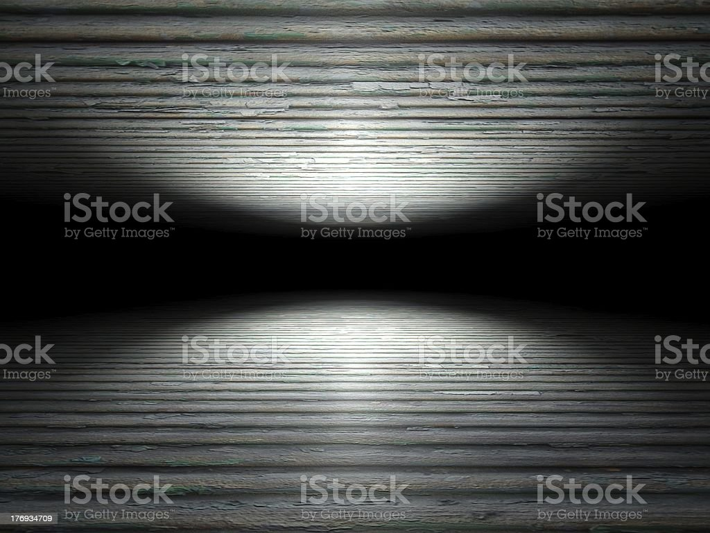 Floor and ceiling made of wooden planks background texture royalty-free stock photo