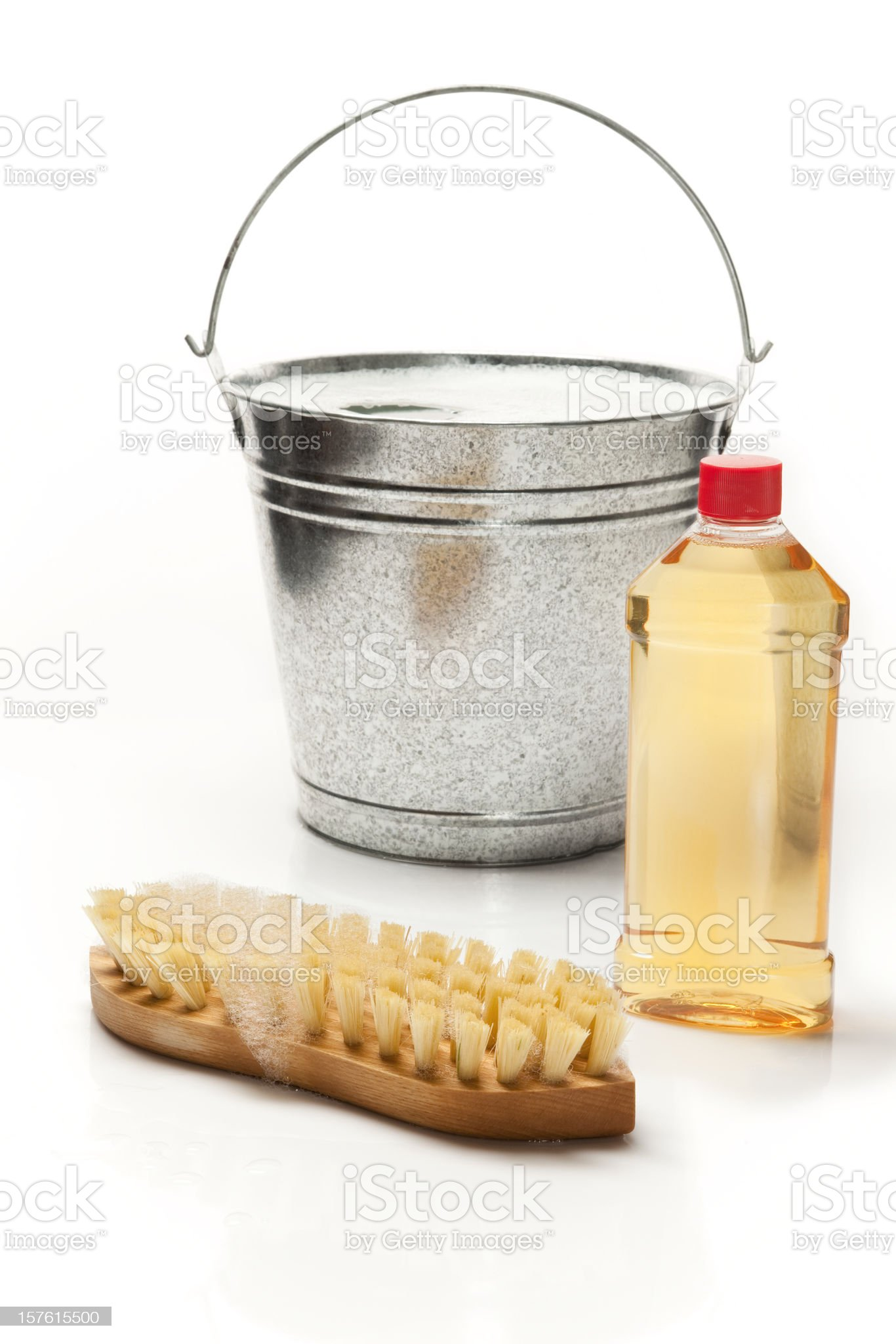 Floor and wood cleaning products royalty-free stock photo