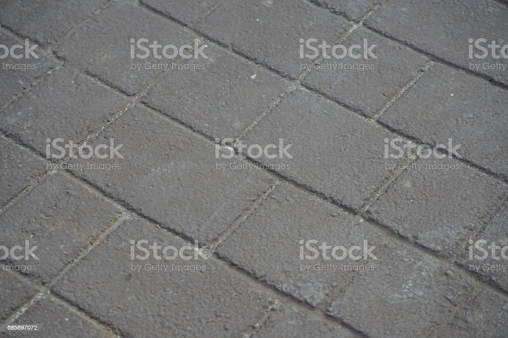Floor brick block on ground walk street stock photo