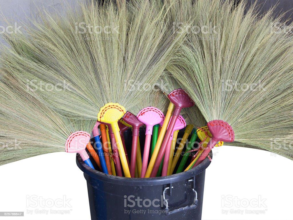 Floor broom grass stock photo