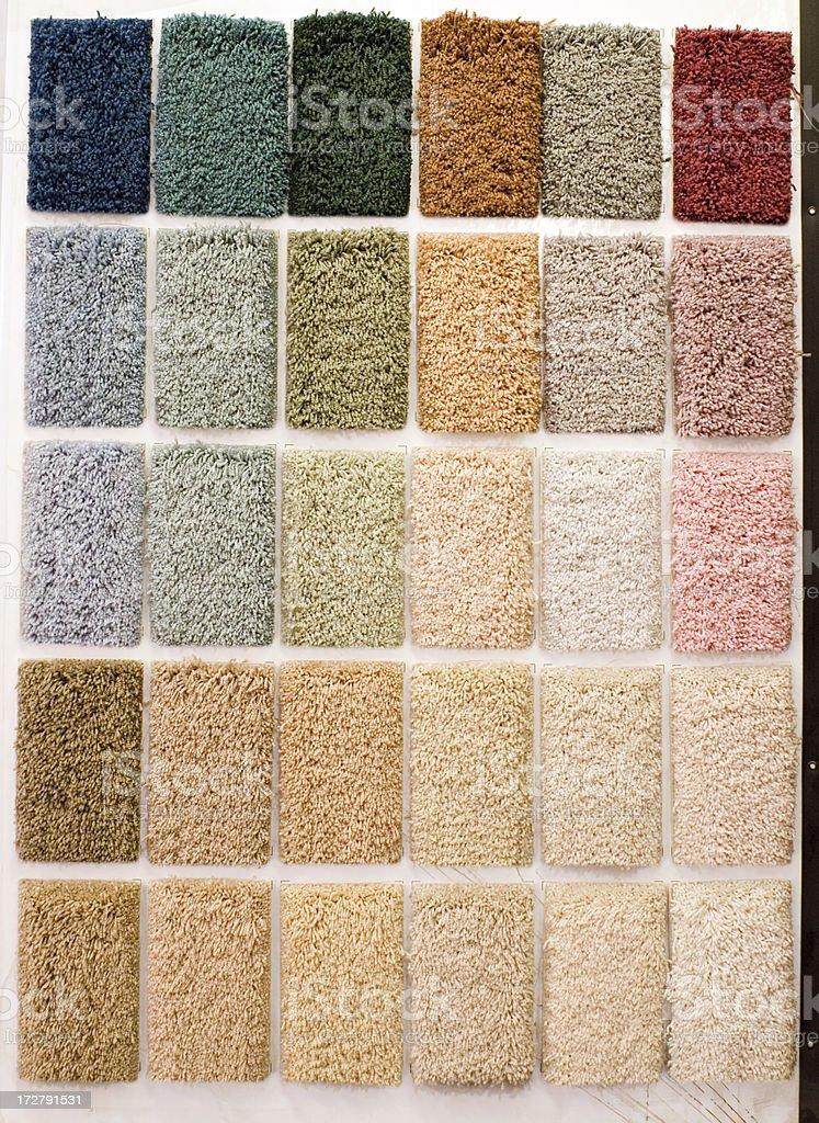 Floor carpet samples - color palette royalty-free stock photo