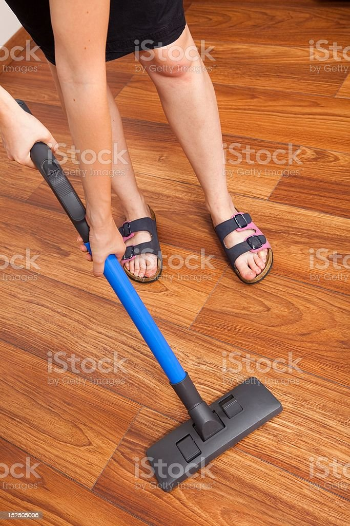 Floor cleaning royalty-free stock photo