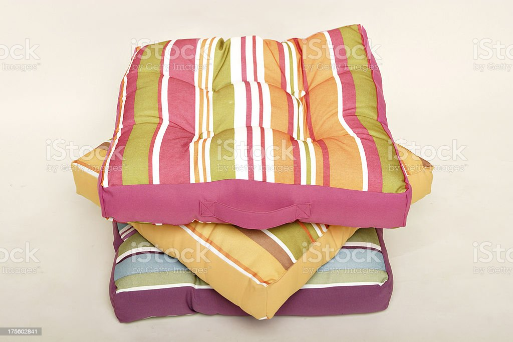 floor cushions royalty-free stock photo