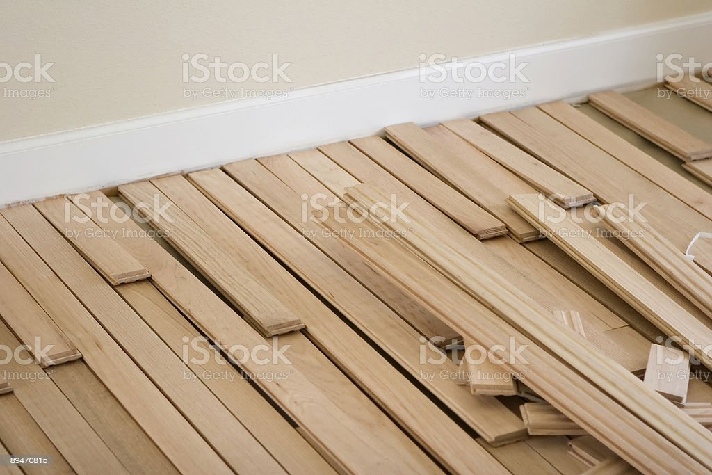 Floor End Mess royalty-free stock photo