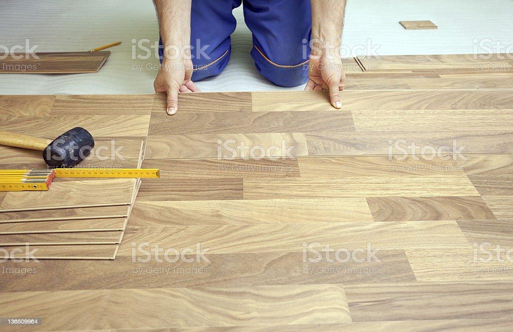 Floor installation royalty-free stock photo