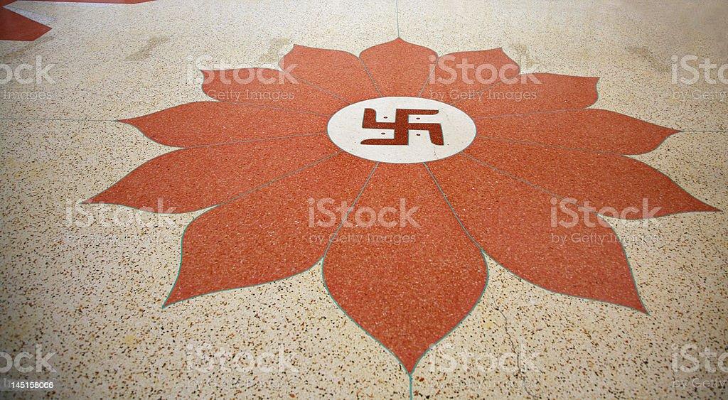 Floor of Indian Temple stock photo