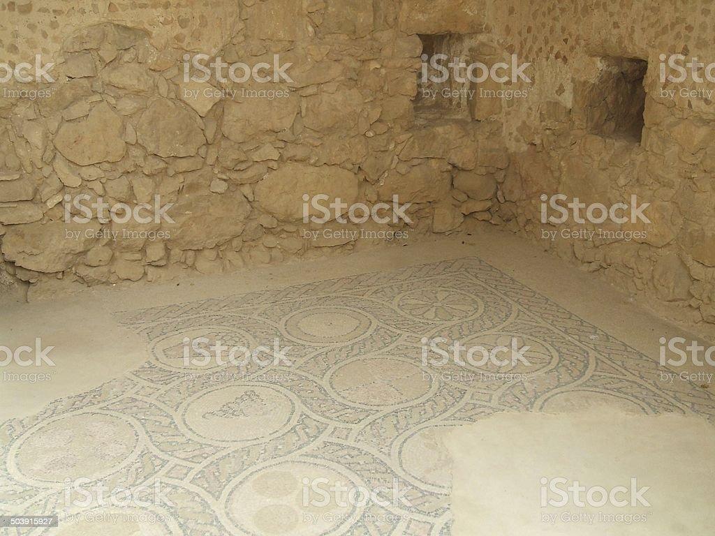 floor of King Herod palace in Masada, Israel stock photo