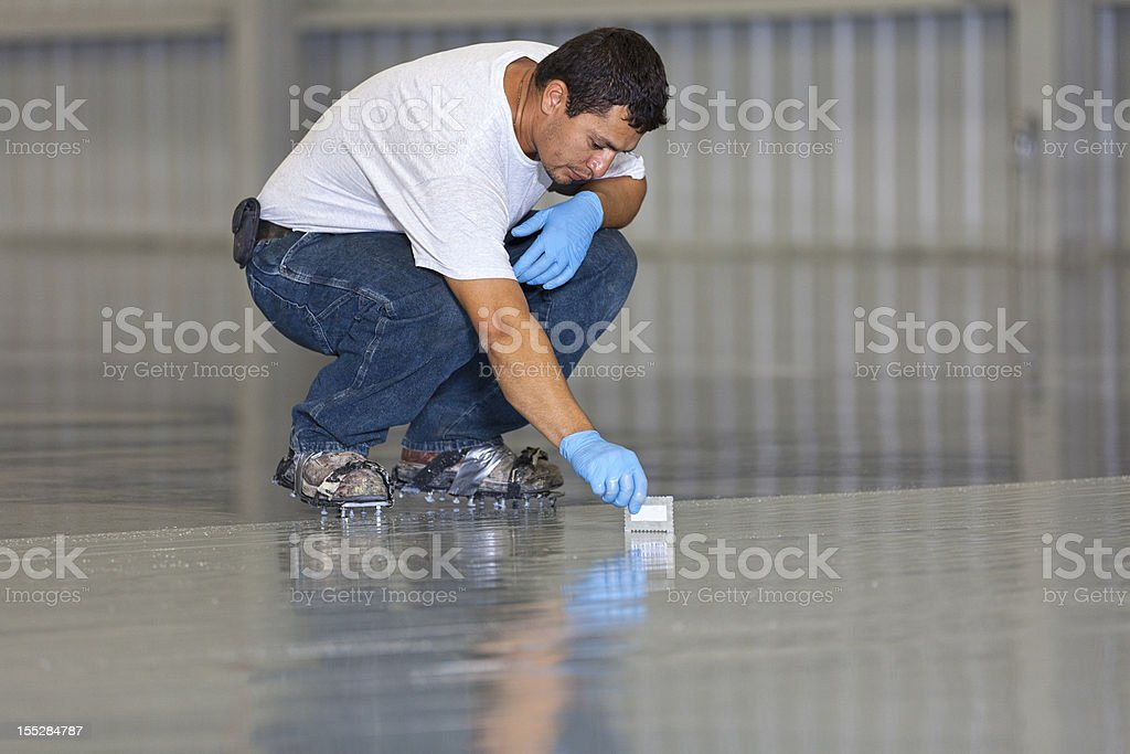 Floor Painting royalty-free stock photo
