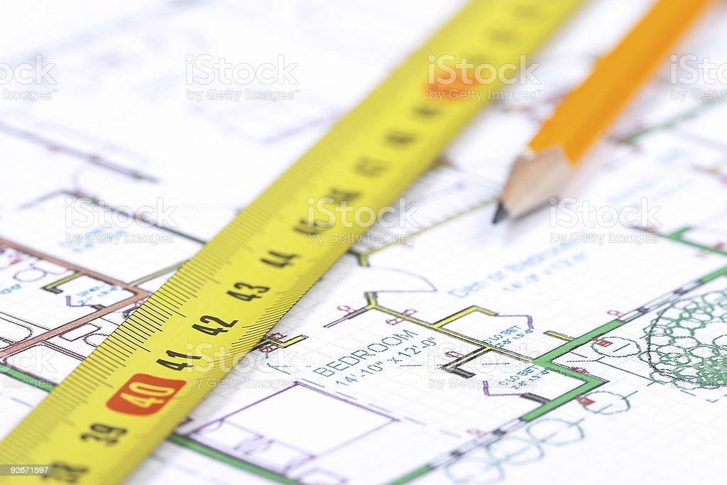 Floor plan [2] stock photo