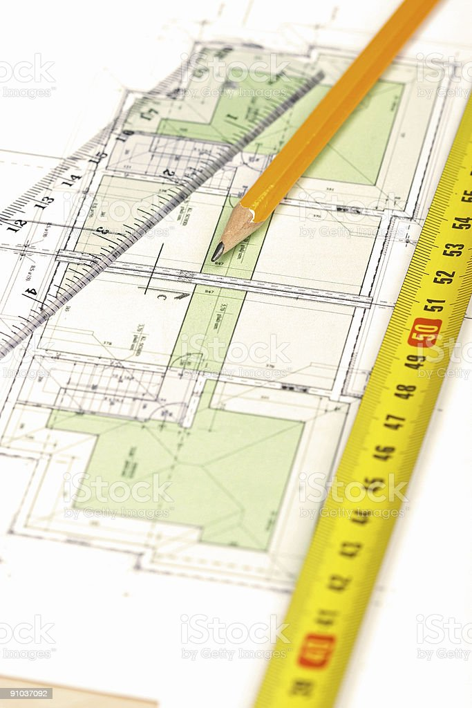 Floor plan [4] stock photo