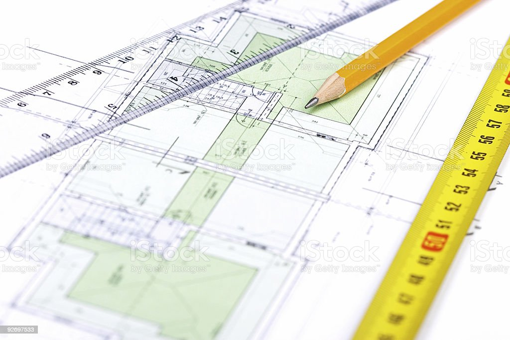 Floor plan [5] stock photo
