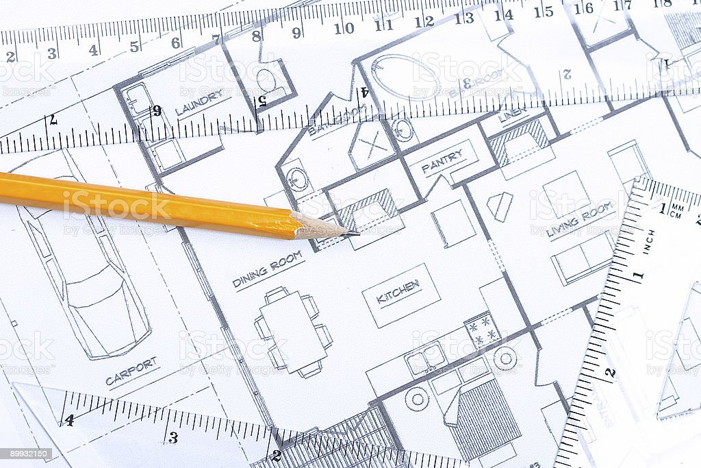 Floor plan [horizontal] stock photo