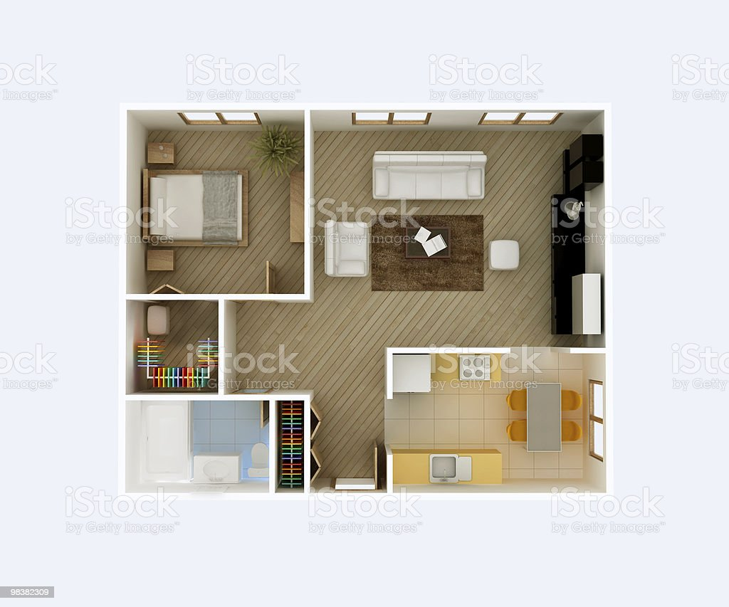 Floor plan interior stock photo