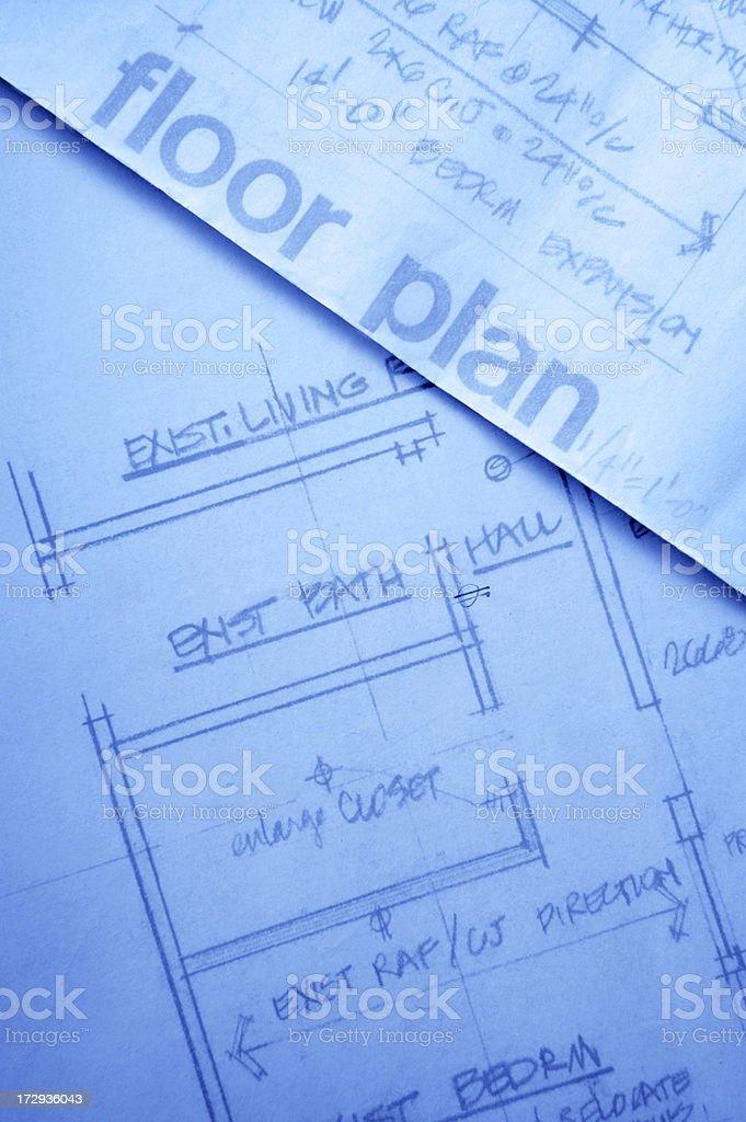 Floor Plan royalty-free stock photo