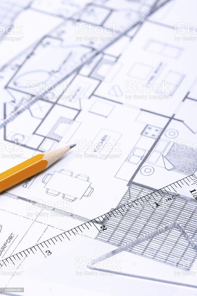 Floor plan [vertical] stock photo