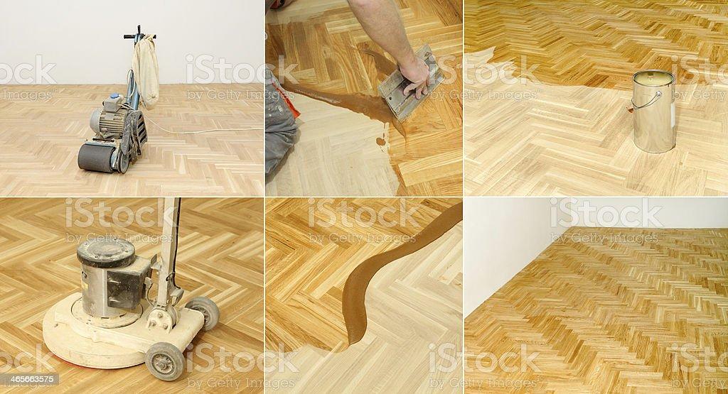 Floor renovation stock photo