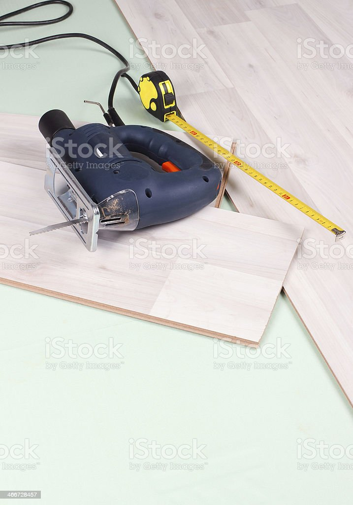 floor repair stock photo
