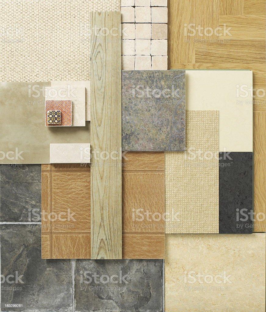 Floor samples stock photo