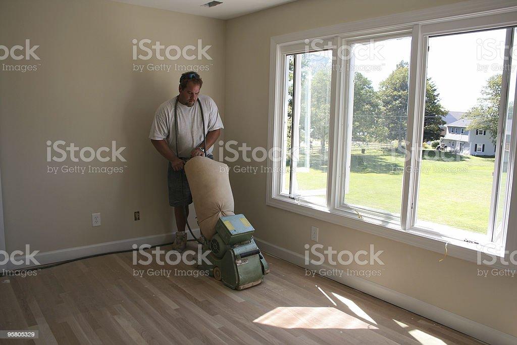 Floor Sanding III royalty-free stock photo