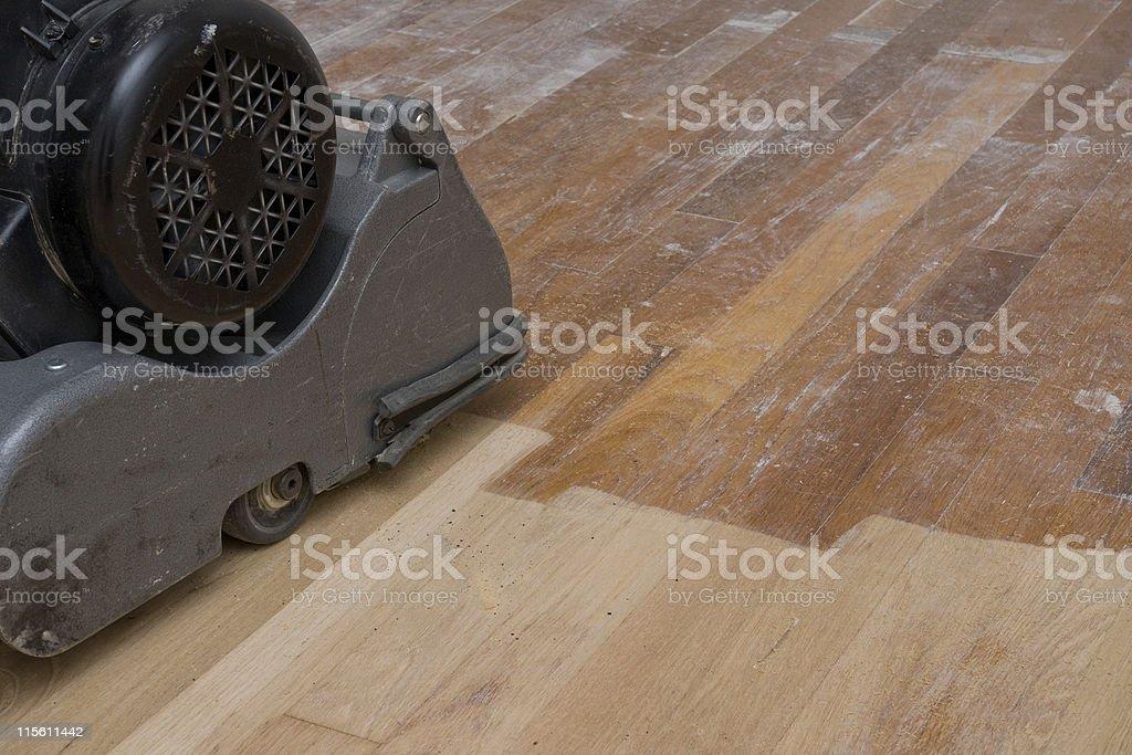 Floor sanding stock photo