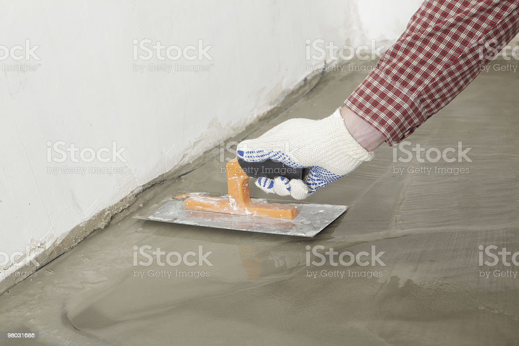 Floor smoothing royalty-free stock photo