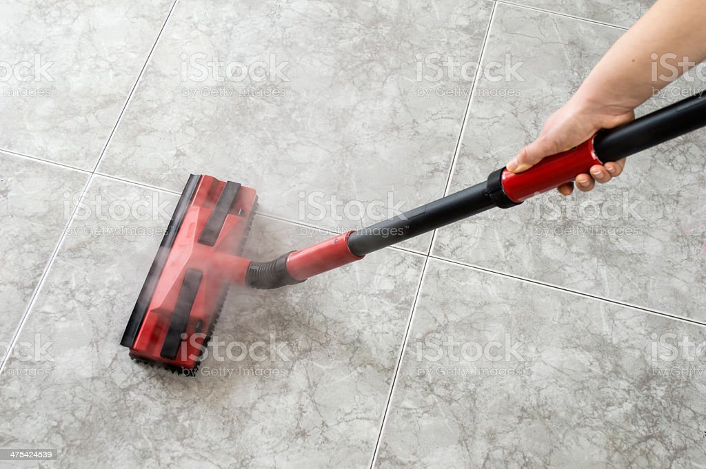 floor steam cleaning stock photo