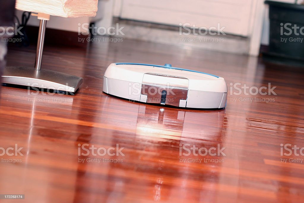Floor washing machine in action royalty-free stock photo