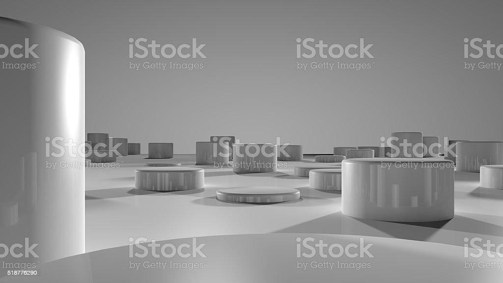 Floor with Pillars stock photo