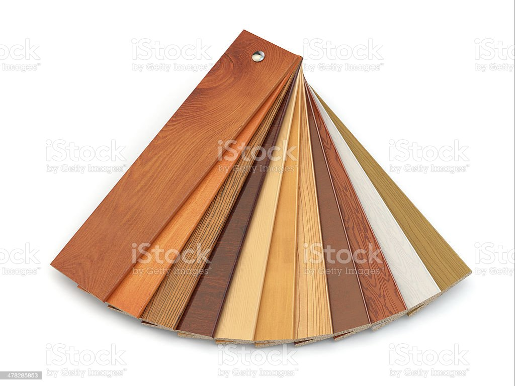 Flooring laminate or parqet samples. royalty-free stock photo