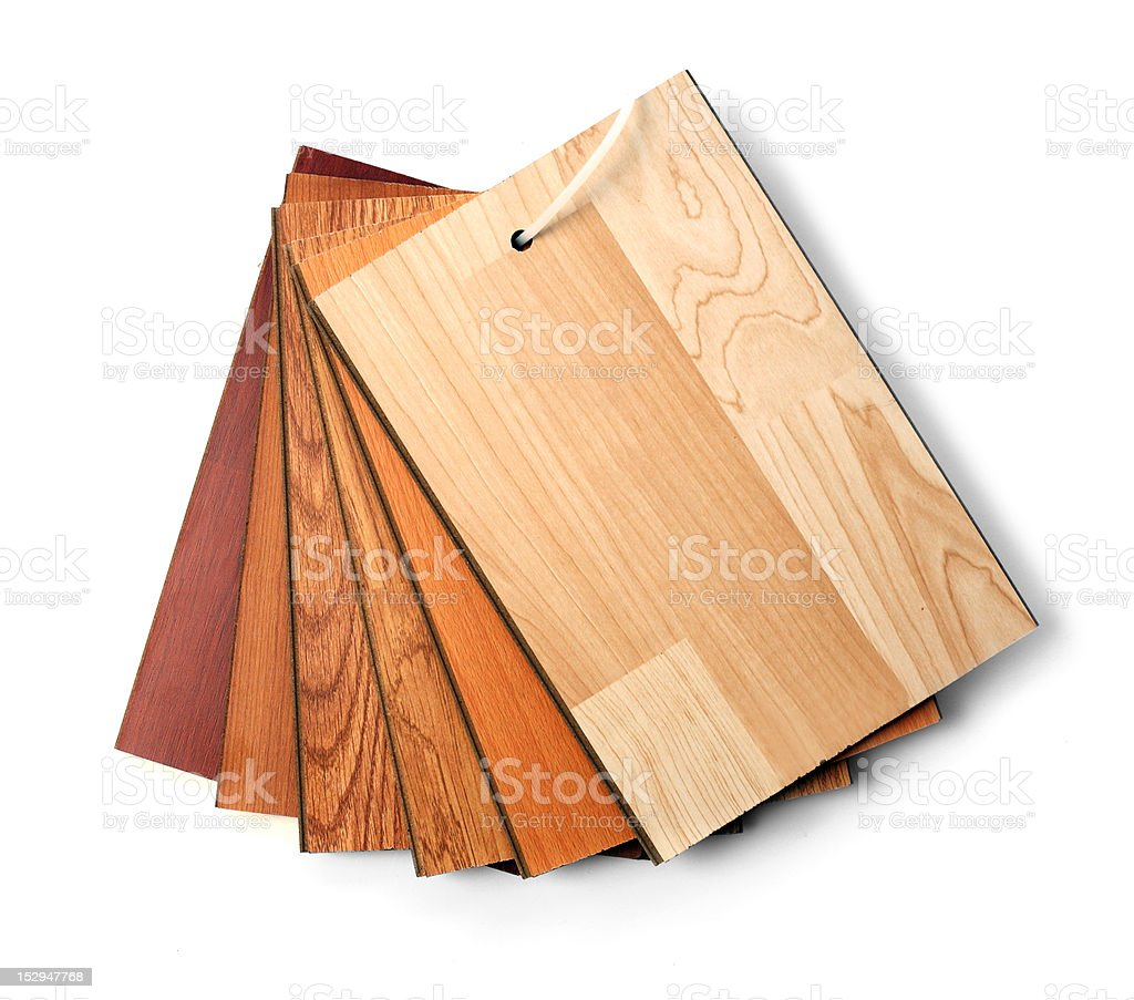 Flooring laminate samples stock photo