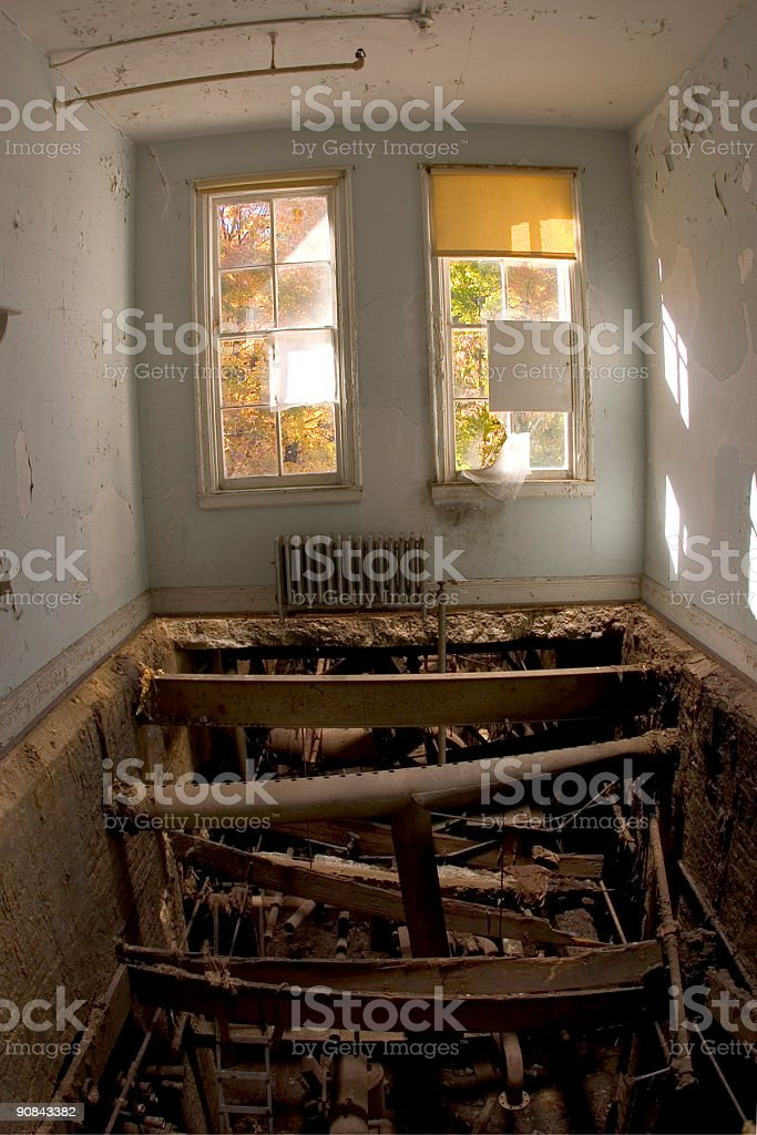 Floorless Room royalty-free stock photo