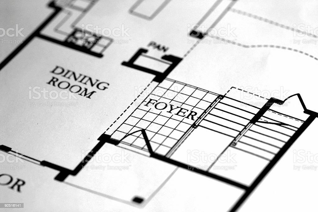 Floorplan royalty-free stock photo