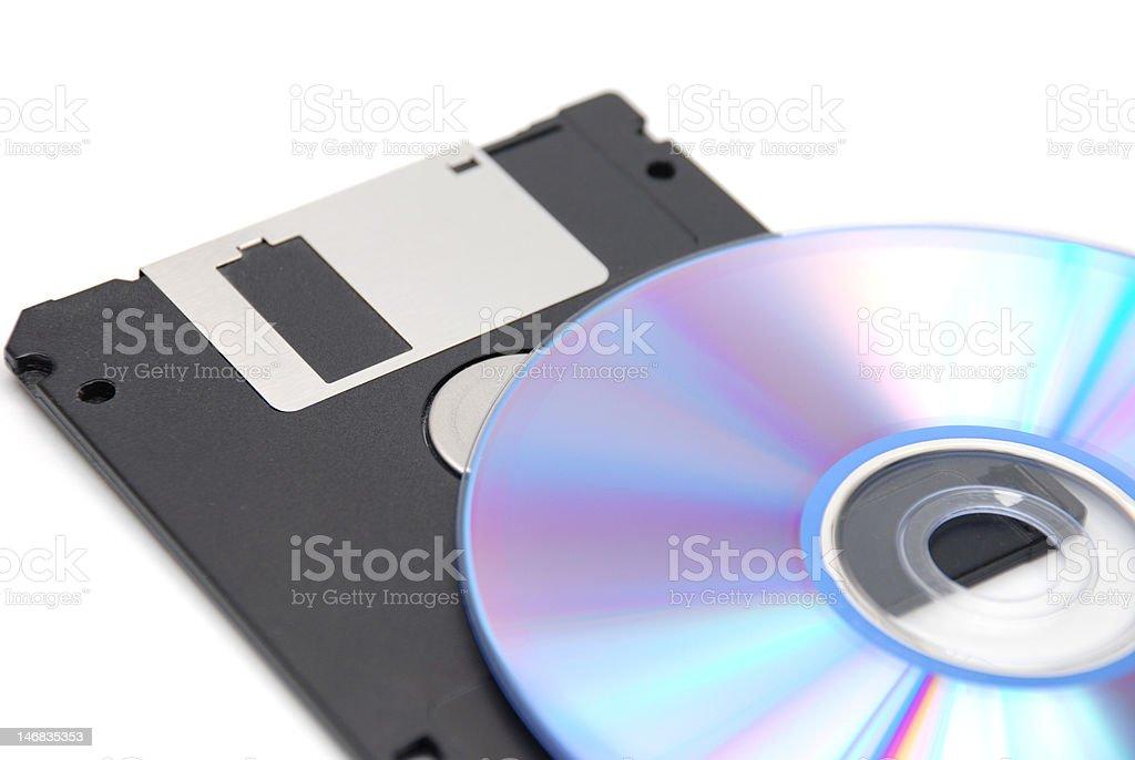 floppy and CD stock photo