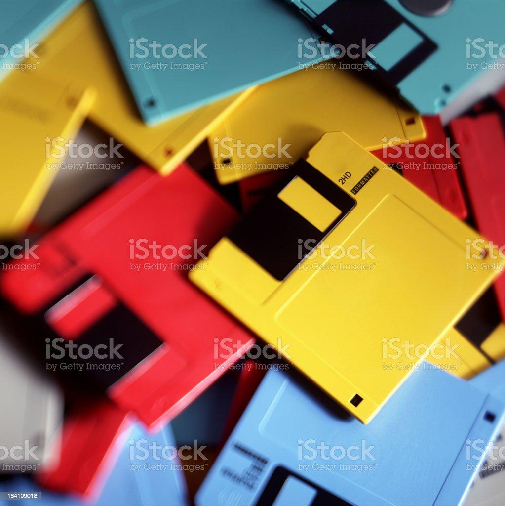 Floppy disc pile royalty-free stock photo