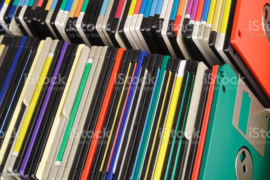 Floppy discs stock photo