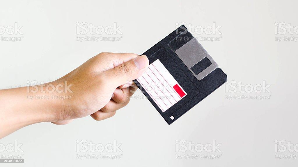 floppy disk Backup memory stock photo