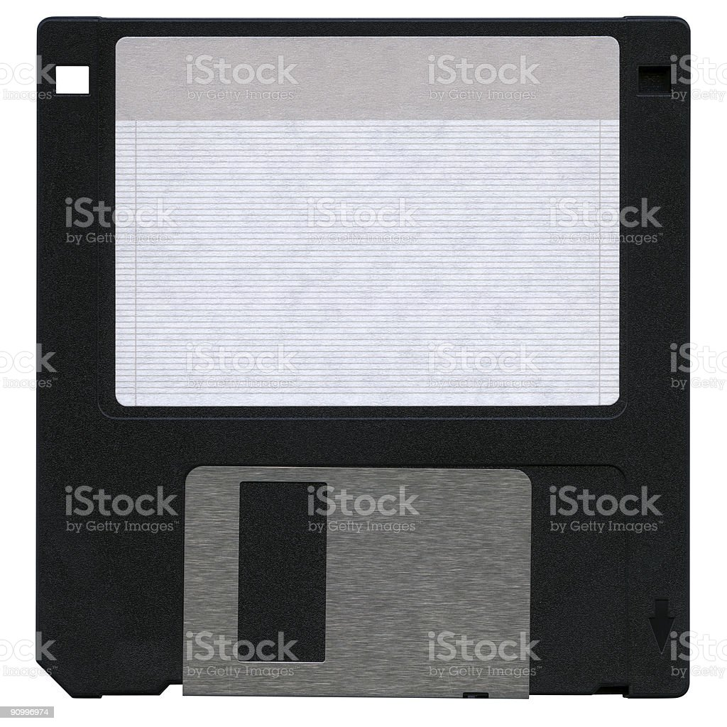 Floppy disk in hi-res, isolated, clipping path on white background royalty-free stock photo