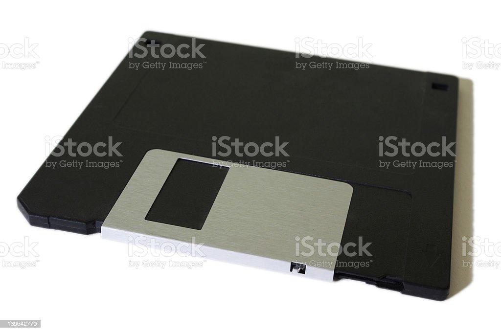 Floppy disk on a white background royalty-free stock photo