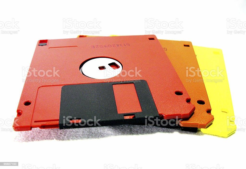 Floppy disks royalty-free stock photo