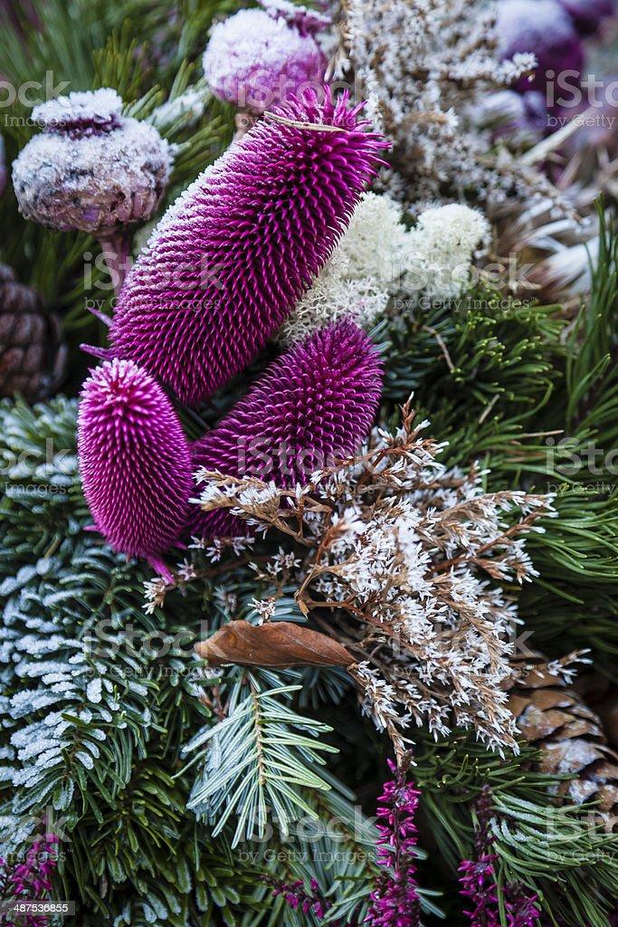 Floral Arrangement in Cemetary Salzburg Austria stock photo