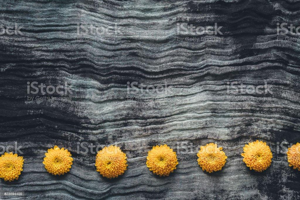 Floral Arrangement On Dark Background stock photo
