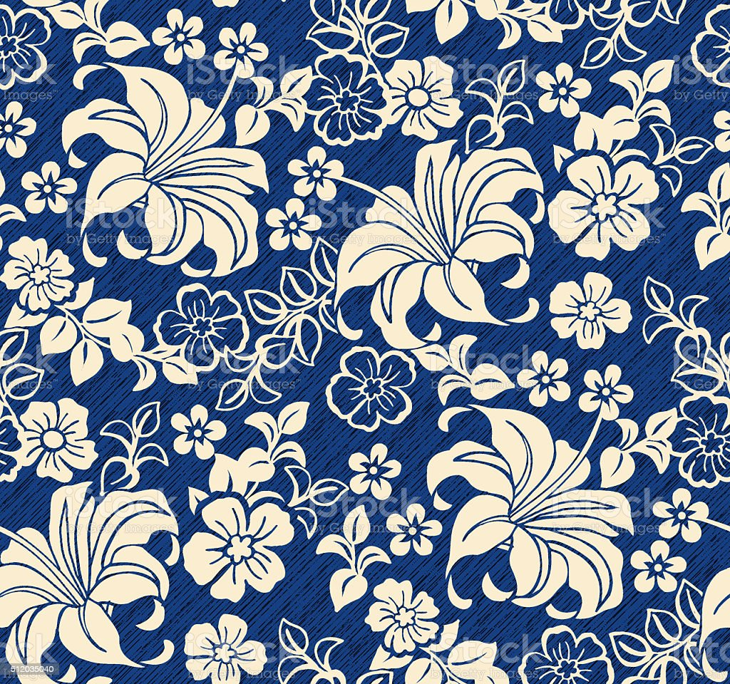 floral beauty pattern stock photo