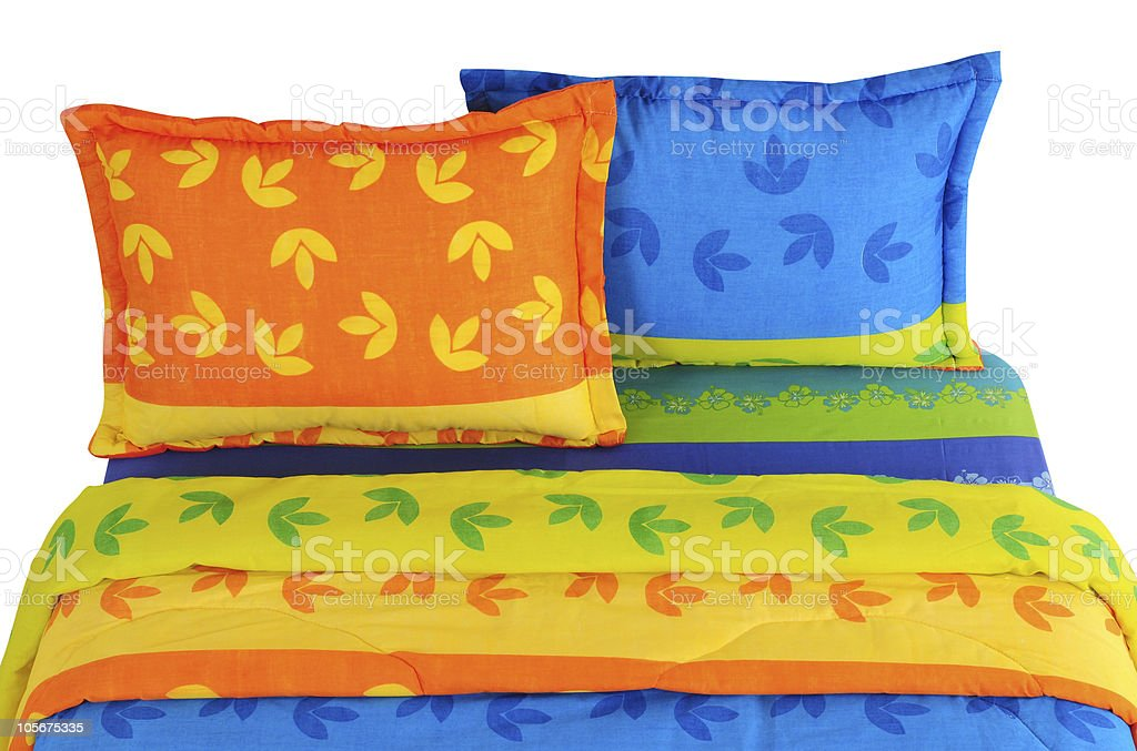 Floral bedding spreads. royalty-free stock photo