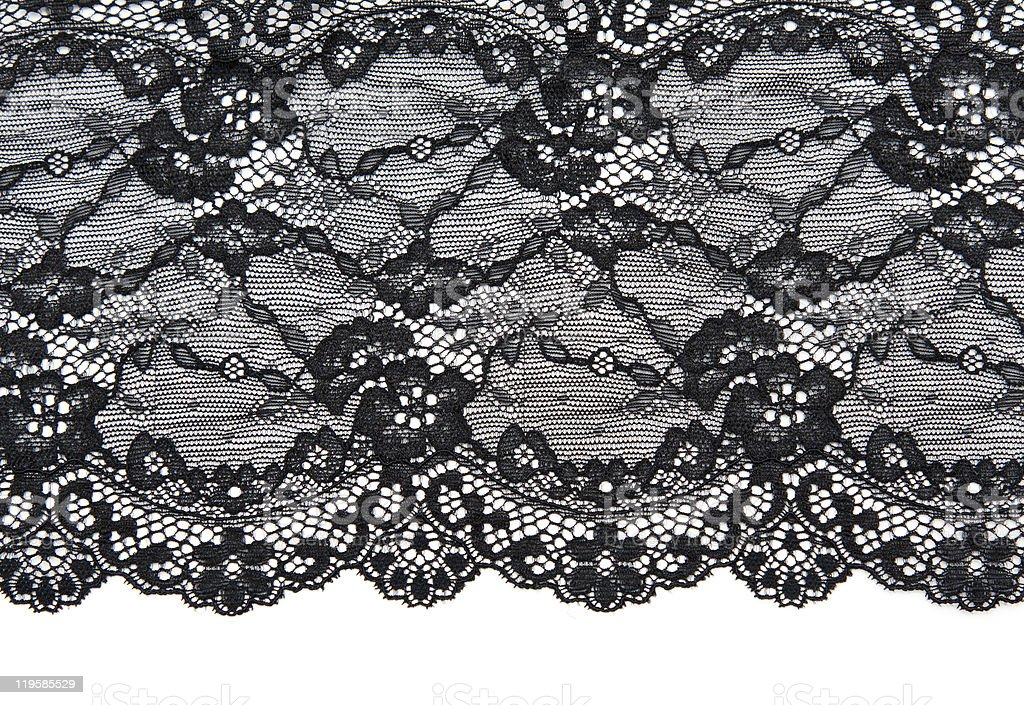 Floral Black and white lace pattern stock photo