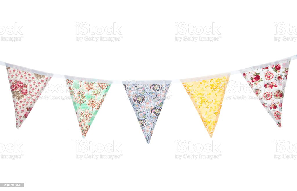 floral bunting stock photo