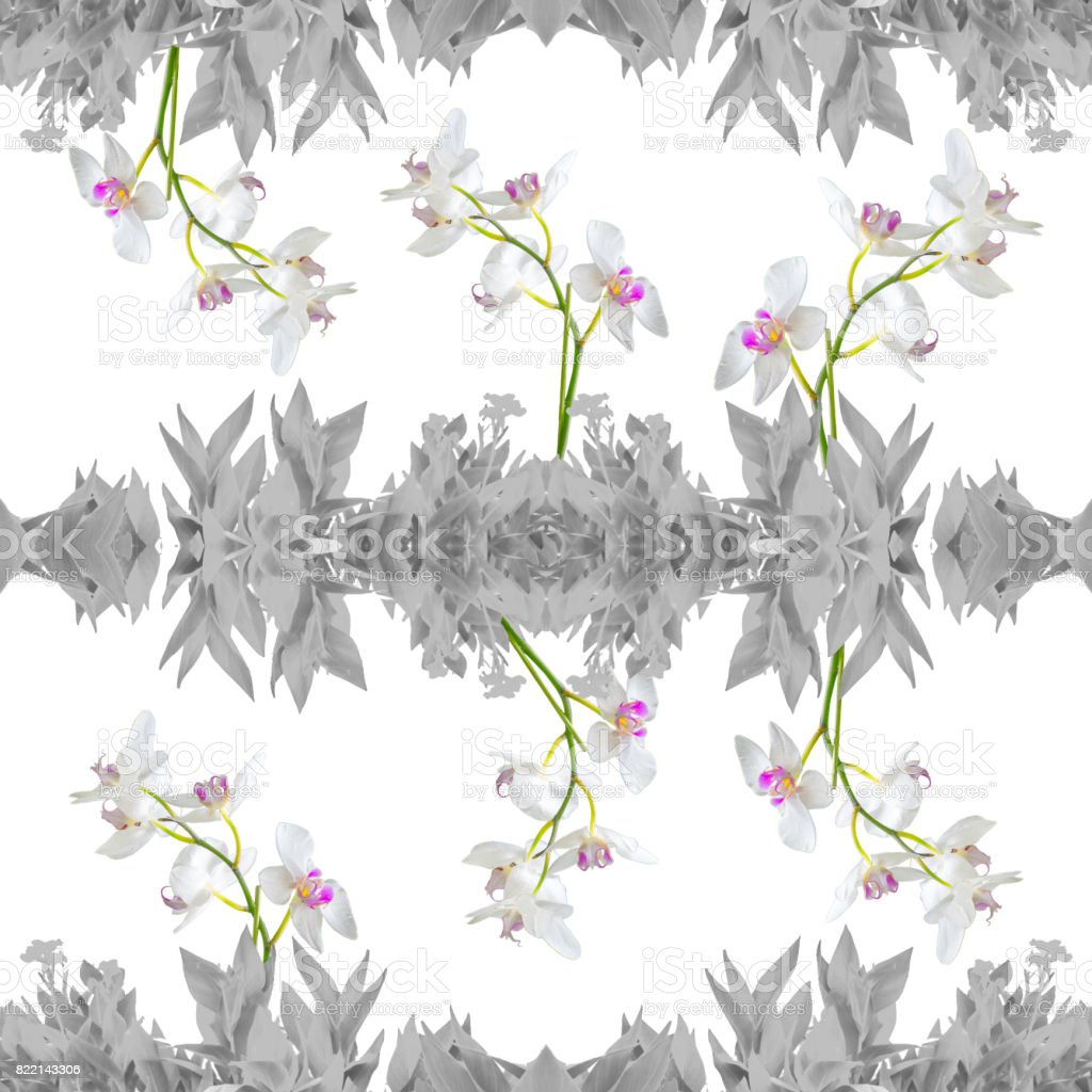 Floral Collage Seamless Pattern Design stock photo