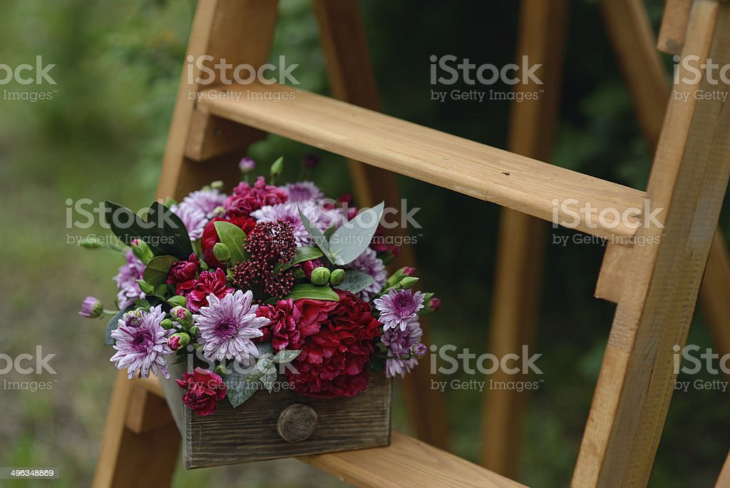 floral composition stock photo