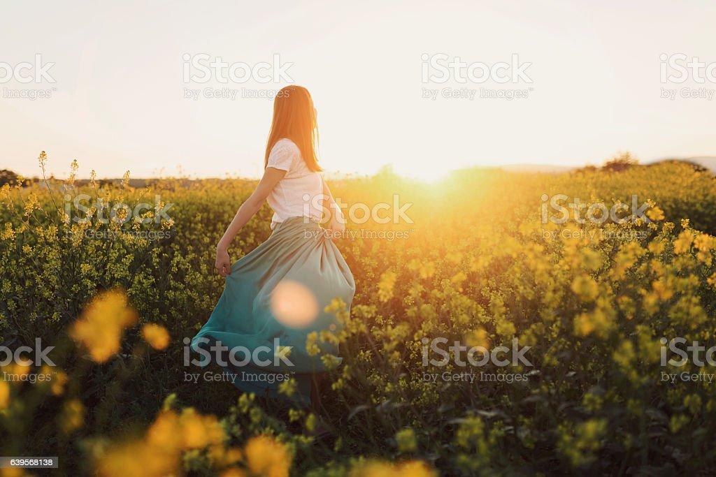Floral dancer stock photo