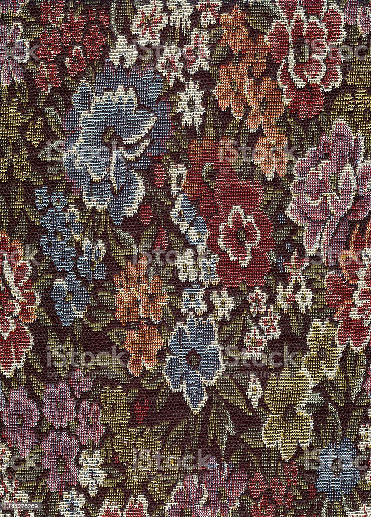 Floral Fabric royalty-free stock photo
