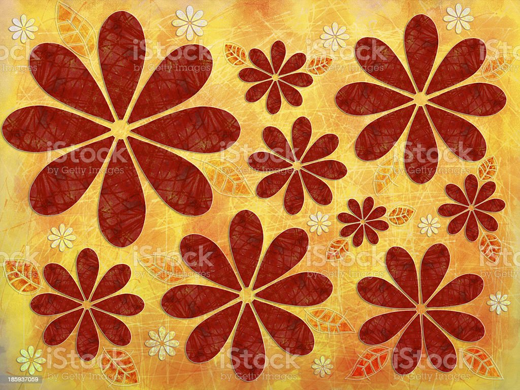 Floral Fall Pattern royalty-free stock photo